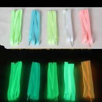 Wholesale shoelace new online - New Arrival Creative Designer Multi Color Birthday Party Masquerade Articles Luminous Shoelace Simple Durable Hot Sale xc aa