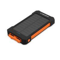 Wholesale ten phones - AliCute0040- New portable solar charger solar baery Power to external ms mAh ten thousand emergency phone flat light