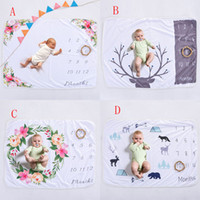 Wholesale flowers white background for sale - Group buy INS Kids photography background props Blankets floral Blankets infant Swaddling flower digital newborn baby wraps cm styles C4163