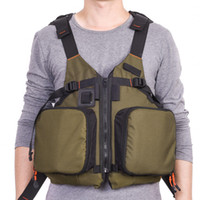 Wholesale life backpacks resale online - LEO D86 Olive Green Boat Floating Fishing Jacket Life Jacket Life Vest Multifunctional vest backpack