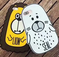 iphone case cat animal Australia - 3D Cartoon Lovely Animals Cat Seal Lion Soft Silicone Phone Case for iPhone 6 6s Plus Shockproof Cover Coque Funda Capa