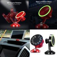 telefon çevirme standı toptan satış-Aydınlık Araba Manyetik Tutucu 360 ° Dönen Cep Telefonu GPS için Montaj Braketi Standı