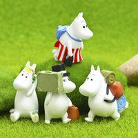 Wholesale Resin Figure Female - Super Cute Hippo Male and Female Classic Livelife Edition Series Action Figure Toys DIY Micro Landscape Garden Decoration Props Children Toy