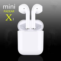 Wholesale one mini red - New Padear mini X ONE   I9S mini Bluetooth Headset Earbuds Air Pods Wireless Earphone Earbuds for Iphone Apple 6 7 8 PLUS x
