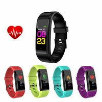 Wholesale bluetooth fashion bracelet - Color Display Fitness Bracelet Bluetooth Sport Smart Fashion Smart Band Heart Rate Monitor Fitness Tracker Smart Wristband For Android IOS