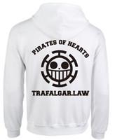 одноствольное пальто трафальгарского закона оптовых-One Piece Трафальгар D Закон Тонкий Толстовка Пальто Косплей