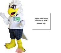 Wholesale eagles mascot costume - Custom Newly White eagle mascot costume add a logo Adult Size free shipping