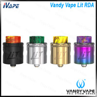 luz rda venda por atacado-Vandy Vape Aceso RDA Tanque 24mm Diâmetro Rebuidable Atomizador Squonk Pin BF RDA Tanque Atomizador W / Multi Função Base 100% Original