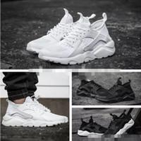 2824fbe64d0a 2018 Air Huarache 4 Men Women Running Shoes All White Huraches Ultra Breathe  Huaraches Mens Trainers Hurache Sports Sneakers Size 36-46