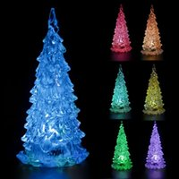 Wholesale xmas lights wholesale for sale online - hot sale new year Colorful Mini Changing LED Night light Lamp Decoration Mini Xmas Gift For Kids home decoration