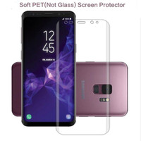 Wholesale pet films - Full Coverage Curved 3D Cover Screen Protector PET Soft Film For Samsung S6 S7 Edge S8 S9 Plus Note 8 Note8 ( Not tempered glass )