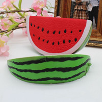kostenlos matschig verkauf großhandel-Das heiße squishy kawaii riesige Wassermelone des Verkaufs 18cm * 9cm langsam steigendes Squishy Charme-Pressungsspielzeug geben Verschiffen frei