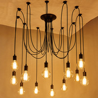 edison luminária pingente venda por atacado-Diy estilo clássico pingente de aranha lâmpada pendurado luzes pingente lâmpadas edison lâmpada para sala de estar sala de jantar luminárias