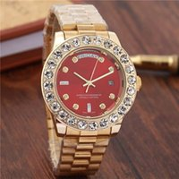Wholesale Double Diamond Watches - 2018 Diamond Original Men Watch Luxury Brand Automatic Mechanical Double Calendar Wristwatches Stainless Steel Waterproof Mens Watches