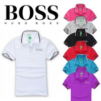 Wholesale Classic Polo Shirts For Men - 2016 New Men's &#66OSS short sleeves polo shirt T-shirt Embroidery Polo Shirt For Men luxury Polo Men Cotton Short Sleeve shirt