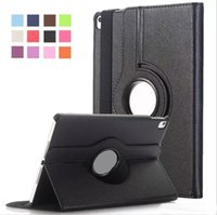 Wholesale Folding Tabs - For iPad Pro 9.7 10.5 2017 air 2 3 4 5 6 Magnetic 360 Rotating leather case Smart cover Stand For mini 2 3 4 Galaxy tab A 10.1 T580 OM-Q2