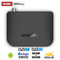 Wholesale box tv dvb t for sale - Group buy MECOOL M8S Plus DVB T2 T Android TV Box Amlogic S905D Quad Core GB GB p K fps Set Top Box Bluetooth K