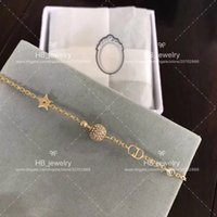 Wholesale bracelet designs for ladies online - Popular fashion brand High version Jadior Diamond Star Bracelet for lady Design Women Party Wedding Luxury Jewelry With for Bride with BOX