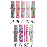 9 Design For Apple Watch Replacement Bands Lilly inspired Pulitzer Silicone 38mm 42mm Watch Band Straps Watchband