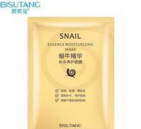 porenschrumpfmaske großhandel-Bisutang Snail Mask Feuchtigkeitsspendende Gesichtsmaske Ölkontrolle Schrumpfen Poren Gesichtsmasken Snail Dope Mask Paste Hautpflege