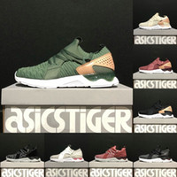 Wholesale pink knit top - Asics Originals Gel-Lyte V Sanze Knit 5s Top soft upper Running Shoes mens women Wheat color Socks shoes Discount Sneakers