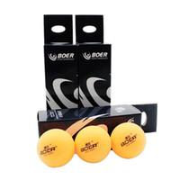 ingrosso palline da tennis di colore giallo-3pcs Set Table Tennis Balls BOER Professional 40mm Bianco forPong con Palloni BoxPong per il tempo libero