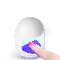 сигнальный фонарь оптовых-2018 новый мини 6 Вт ногтей лампа гель лак для ногтей сушилка светодиодные УФ-лампы портативный один палец отверждения свет яйцо форма электрическая сушилка