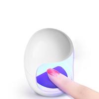 mini dedo polonês venda por atacado-2018 Novo Mini 6 W Prego Lâmpada Gel Unha Polonês Secador LED UV Lâmpada Portátil Um Dedo Cura Light Egg Forma Secador Elétrico