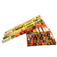 Wholesale fragrance sticks - 1 Box Indian Handmade Imported Incense Rich Hand Aromatherapy Expelling Parasite Sticks Incense Stick Multiple Fragrance Aroma Random A