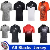 Wholesale rugby homes - All Blacks Training Jersey 2018 Super RUGBY All Blacks Performance Home Jersey 2018 2019 New Zealand All Blacks Rugby Jersey Size S-XXXL