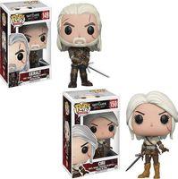 Wholesale popular kids games - Funko POP! Games The Witcher 3 Wild Hunt Ciri Geralt Vinyl Action Figure with Box #149 #150 Popular Toy