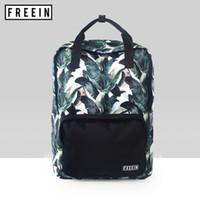 0ed66fc4d1fa beautiful backpacks women NZ - Fashion Printed Women Backpack Beautiful  Leaves Big School Bags for Girls
