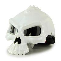 Wholesale skull motorcycle half helmet - Motorcycle helmet helm Masei skull bones half face casco ABS Racing bike confortable scare bright mate