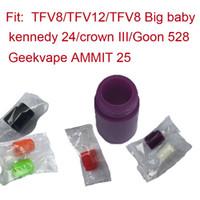 ingrosso l'atomizzatore della corona-singolo pacchetto 810 usa e getta del gel di silice Drip Tip silicone foro largo 810 Bocchino in forma bamboccione 528 RDA Crown 3 atomizzatore