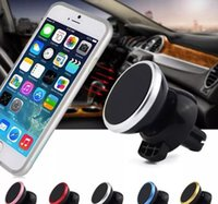 Wholesale Car Support Iphone - The car phone bracket magnetic vent bracket is the iPhone X samsung HTC SONY all smartphone GPS moving magnet support