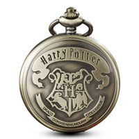 Wholesale pocket watches for for sale - Harry Potter Pocket Watches Vintage School Hogwarts SLYTHERIN RAVENCLAW Quartz Pocket Watch with chain necklace pendent for Men