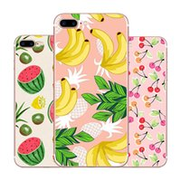 Wholesale banana phone cover online - Cute Watermelon Cherry Strawberry Banana Pineapple Design Soft TPU Phone Case Shockproof Case Cover for iPhone X Plus