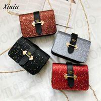 bolsos de embrague para mujer al por mayor-Xiniu Quality Girls Women Bag Bolsos de lujo para mujer bolsos Diseñador Retro Mujer Bling Lentejuelas Bolsa Crossbody Hombro Clutch