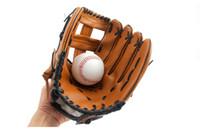 fühlte handschuhe großhandel-Verdickendes PU-Material Baseball-Handschuh gilt für Kinder Jugendliche und Erwachsene Komfortables Gefühl und gute Qualität