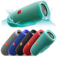 Wholesale small speaker boxes - Charge 3 Wireless Bluetooth Speaker Waterproof Portable Music Speakers Small Sound Box Audio New DHL free shipping