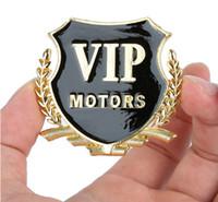 car words 2018 - 3D Metal Car VIP Labeling Stickers New Sticker car styling 2pcs Car Decorator Sticker Emblem Badge GGA201 60PCS