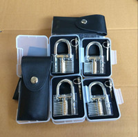 fähigkeiten werkzeuge großhandel-Schlosser Training Lock Transparent Sichtbar Cutaway Praxis Vorhängeschloss Training Geschick Pick Schlosser Schraubenschlüssel Werkzeuge Novetly Games OOA5472