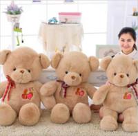 brinquedos educativos ursinhos venda por atacado-Grande Recheado OK Ursinho De Pelúcia Brinquedo de Pelúcia Hot Bonito Adorável Fita Urso Crianças Brinquedo Educativo para Crianças Presente de Natal