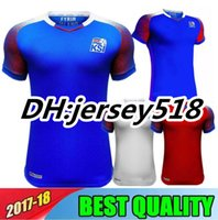 Wholesale National Jerseys - 2018 World Cup Iceland jerseys home away SIGURDSSON SIGTHORSSON top quality soccer jerseys 18 19 Iceland national football shirts