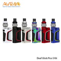 Wholesale pico battery - Authentic Eleaf Istick Pico S Kit With 100W iStick Pico S Mod & 6.5ml Ello Vate Tank Compatible with 21700 18650 Battery