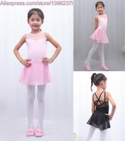 Wholesale sexy children spandex - Ballet Dance Skirt 2018 New Arrival Pink Color Sexy Sleeveless Ballet Leotard Children High Quality Girls Ballet Dancing Skirt