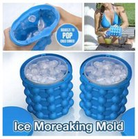 Wholesale blue tongs for sale - Group buy New x14 cm Ice Cube Maker Genie The Revolutionary Space Saving Ice Cube Maker D Grenade Mold Ice Genie Kitchen Tools high quality