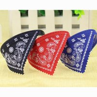 Wholesale small dog bandana collar - 12pcs pet dog cat collar with triangle scarf bandana and middle buckle mixed colors available