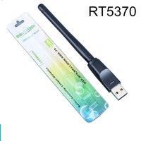 pacote wifi usb venda por atacado-RT5370 USB 2.0 Placa de Rede Sem Fio Wi-fi 150mbps 802.11 b / g / n Adaptador LAN com Antena rotativa e pacote de varejo 50 pçs / lote