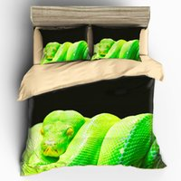 Wholesale tongue machine - Customizable Bedding Kit High Definition Digital Printing Very real snake tongue sub picture Customizable Bedding Sets Duvet Cover pillowcas